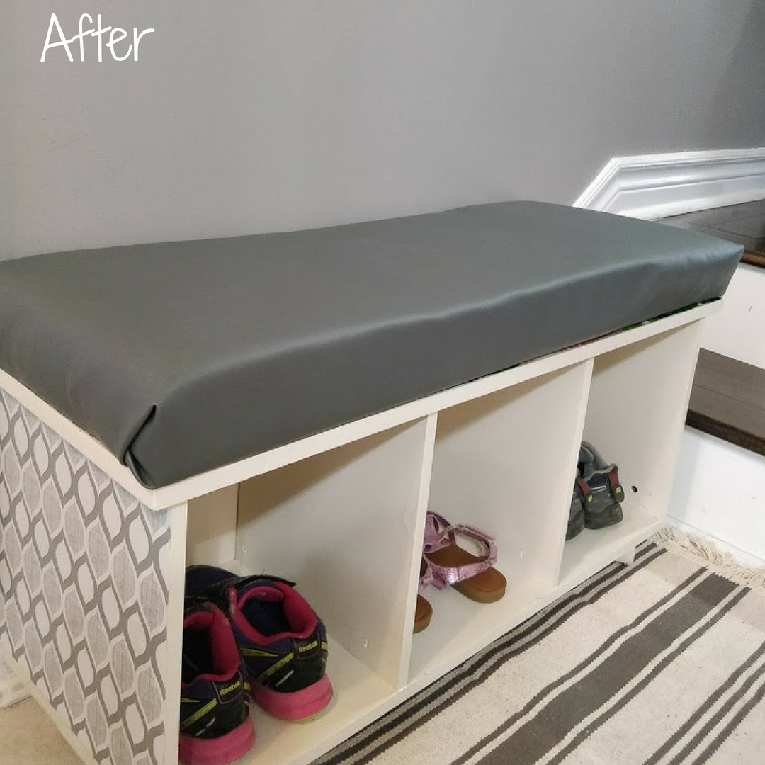 entryway stroage seating bench DIY