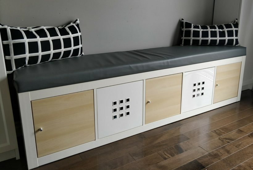 DIY IKEA Hack Storage bench seating banquette