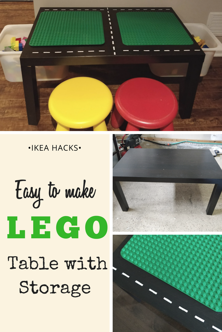 DIY Ikea Lego Table with Storage