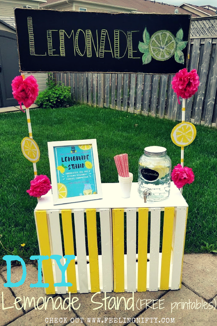 DIY Lemonade stand with free printables