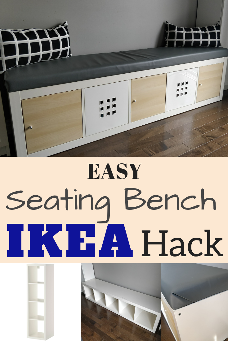 IKEA Hack DIY Seating bench with storage