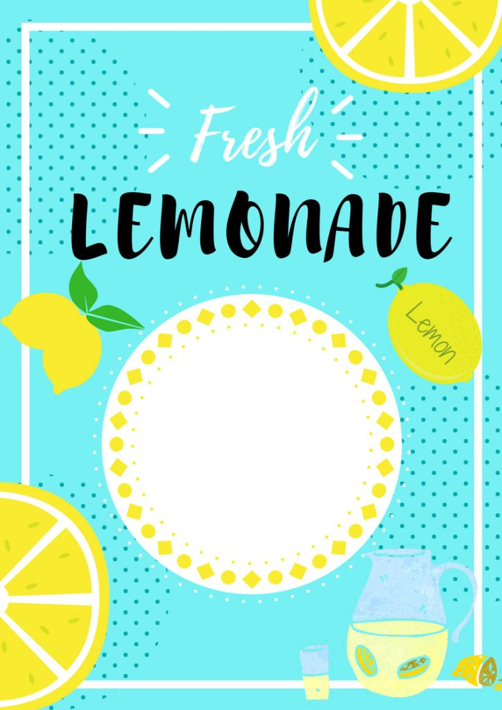 Lemonade Stand Printable Custom Price List