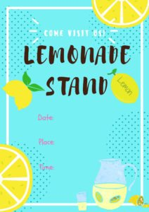 Lemonade stand printable flyer