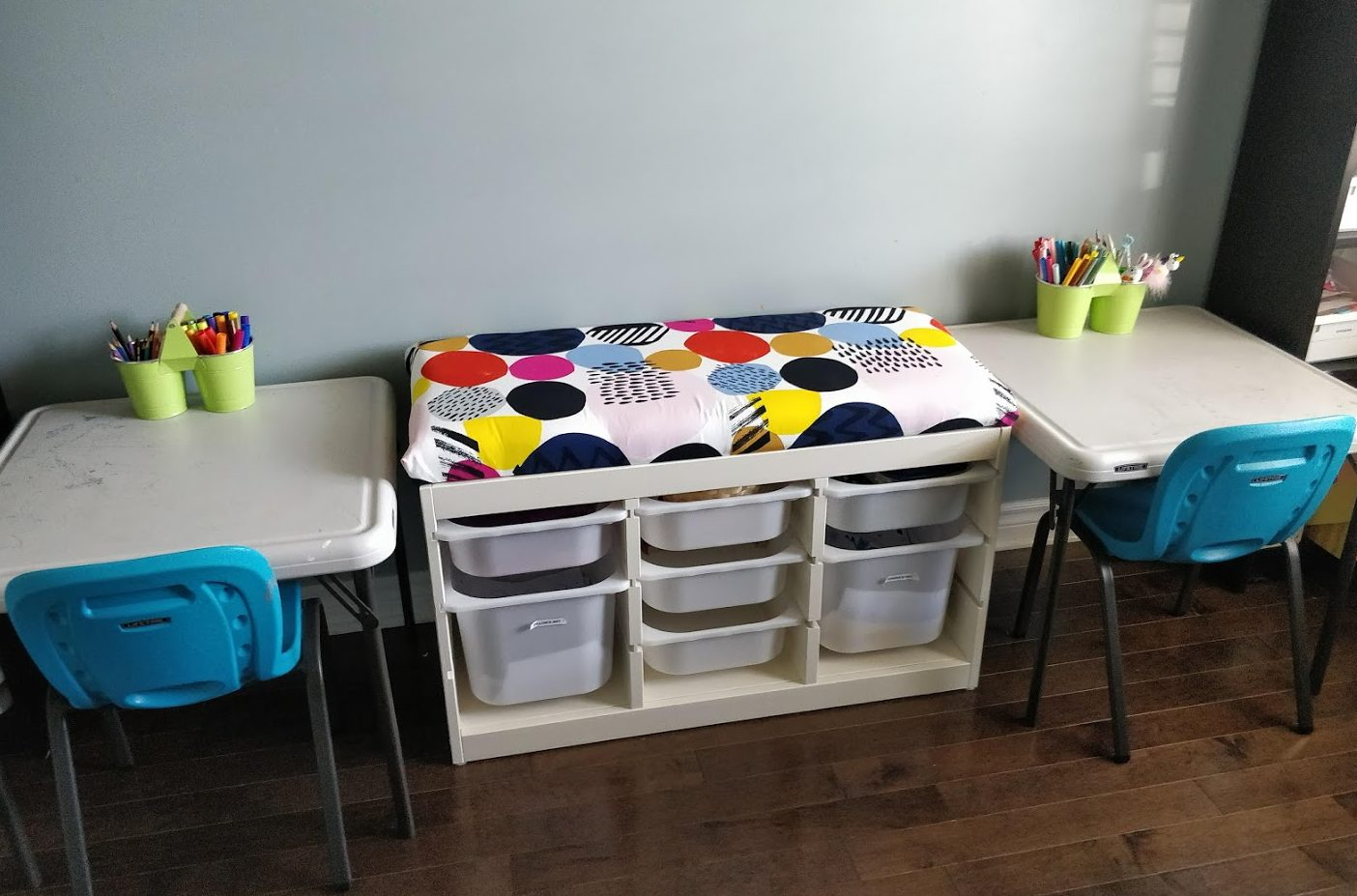 ikea trofast hack kids storage bench material