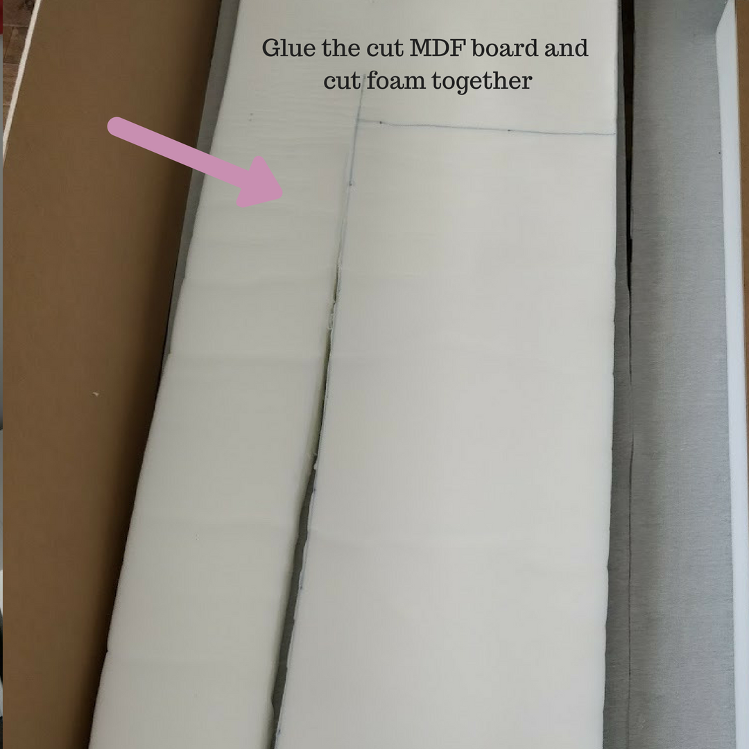 MDF and foam glue together