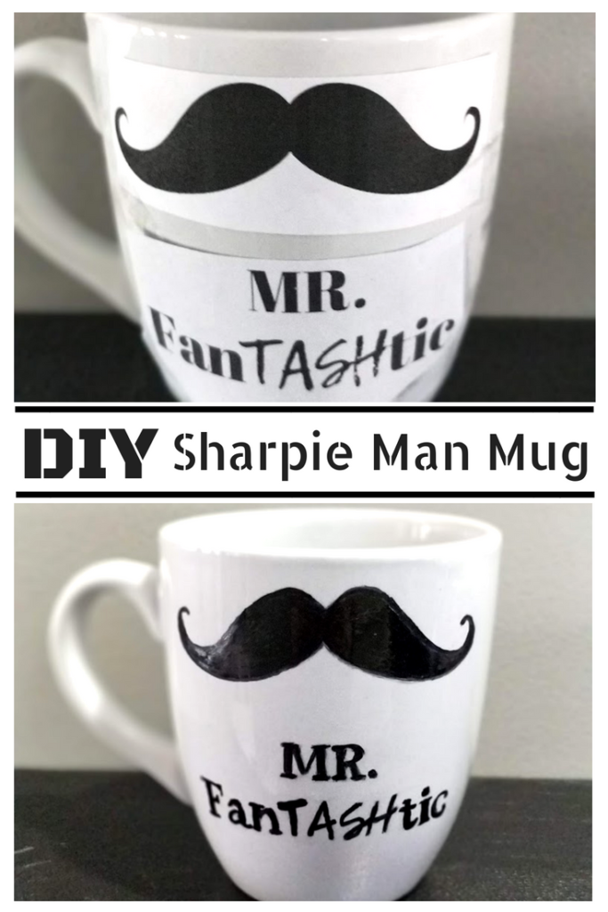 DIY Moustache Sharpie Mug