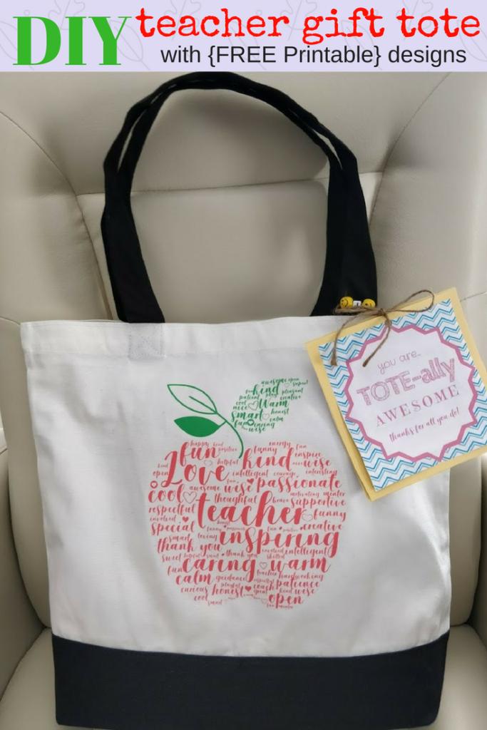 Teacher gift idea tote appreciation