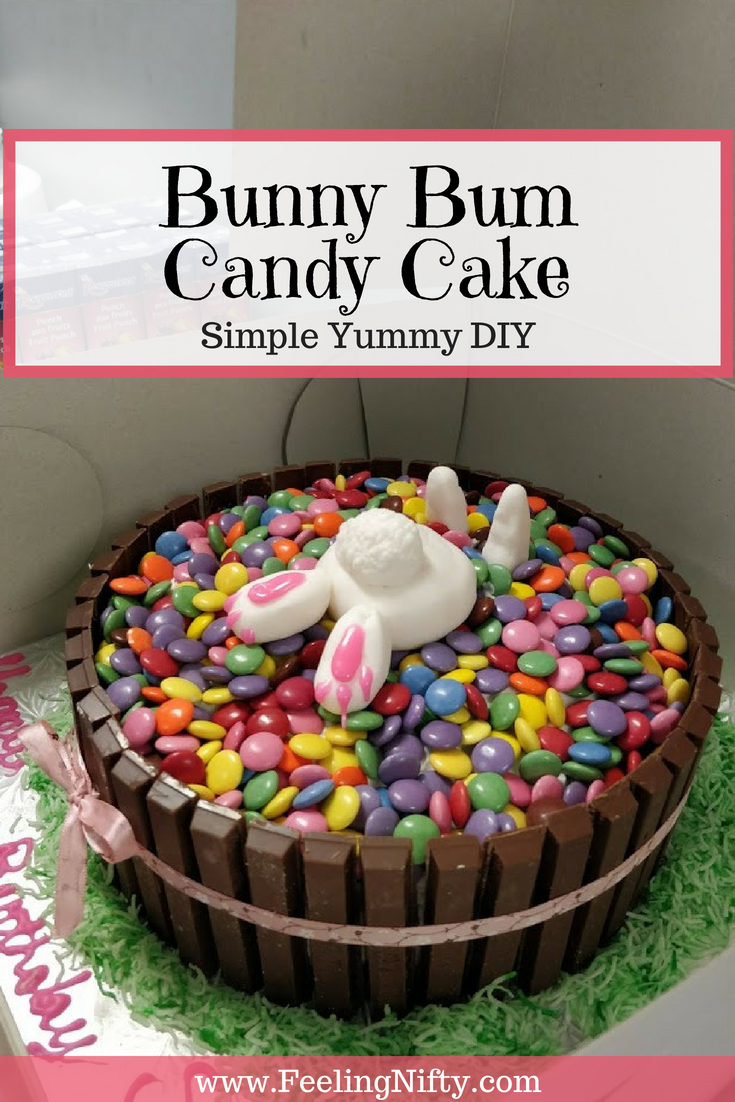 Cute Bunny Bum Candy Cake for Easter or Birthday