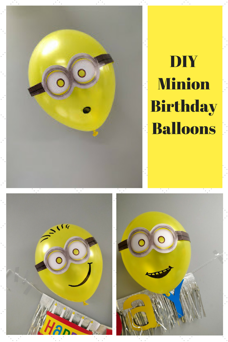 DIY Minion Balloons for a Birthday Party Yellow