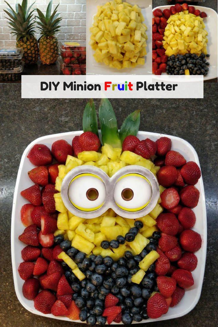 DIY Minion Fruit Platter easy birthday party decoration