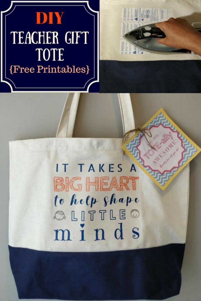 DIY Teacher gift idea tote appreciation