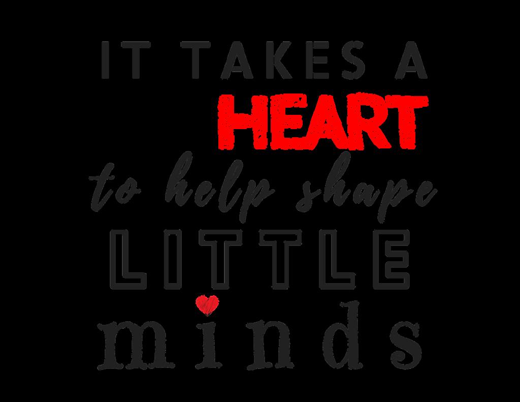 DIY teacher gift Iron on Design Quote heart