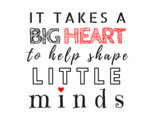 DIY teacher gift idea Iron on Design Quote heart