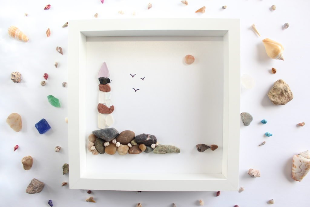 Sea Glass Art small framed art with tutorial