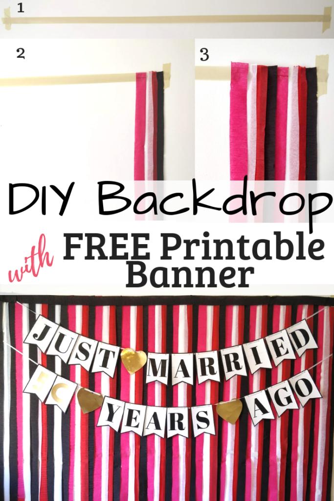 DIY party ideas streamer backdrop
