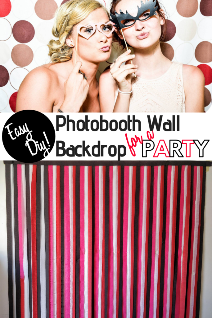 photobooth wall backdrop streamers for a party DIY(1)