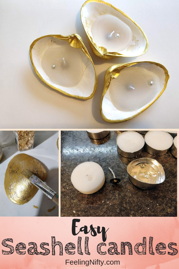 shell diy seashell candle craft easy(1)