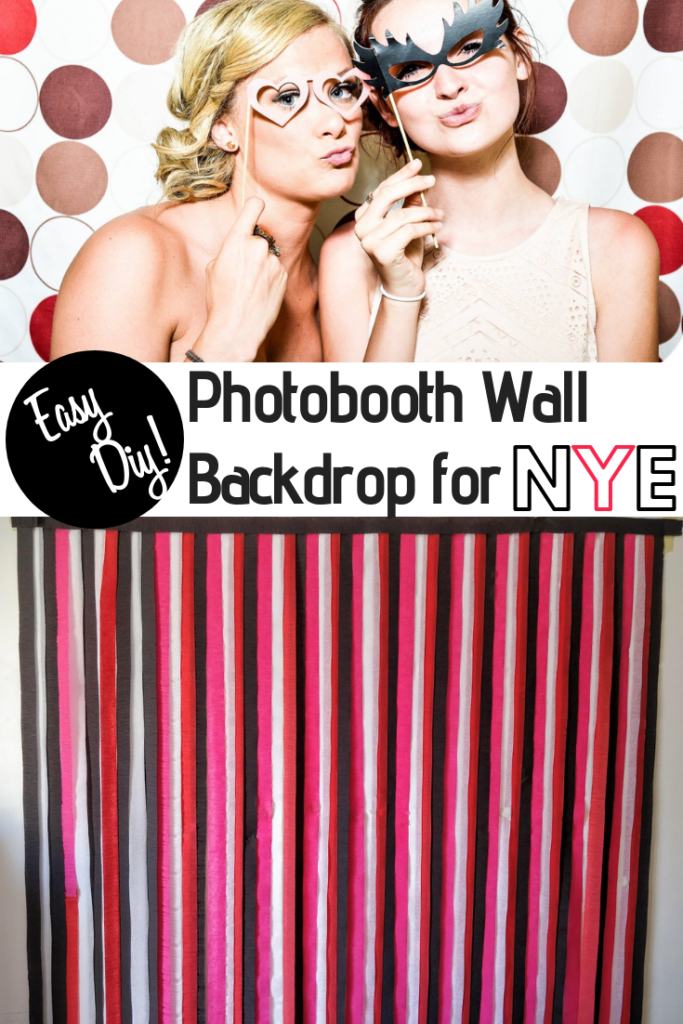 streamer decorations photobooth wall for a party
