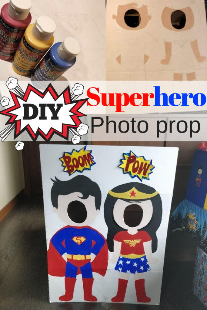 superhero party ideas photo prop hand painted
