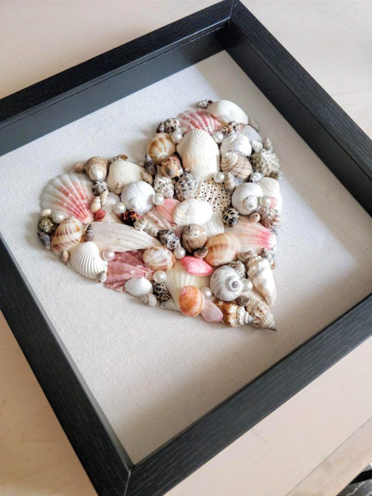diy seashell art shadow box frame