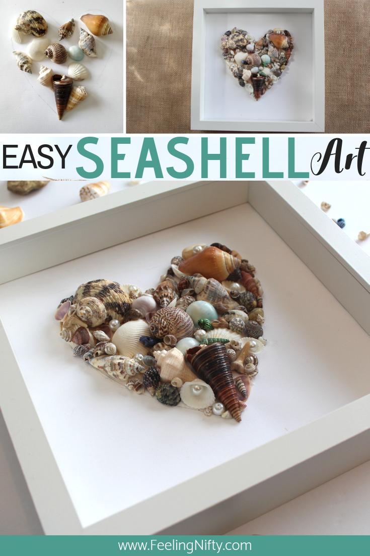 seashell art diy easy craft