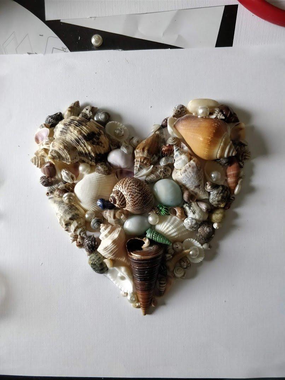 seashell art diy easy framed