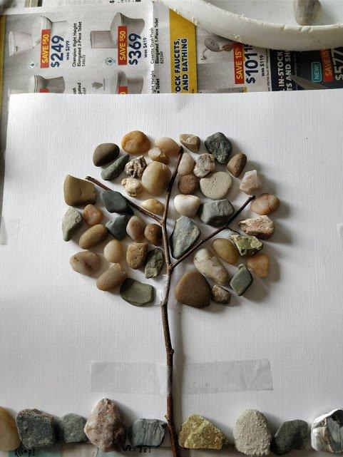 pebble art diy pebbles and twigs tutorial