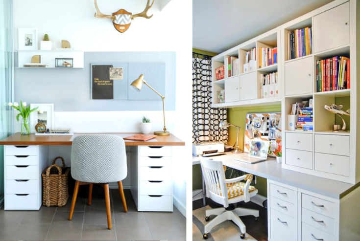 21 Gorgeous Ikea Desk Hacks you can do on a Budget!