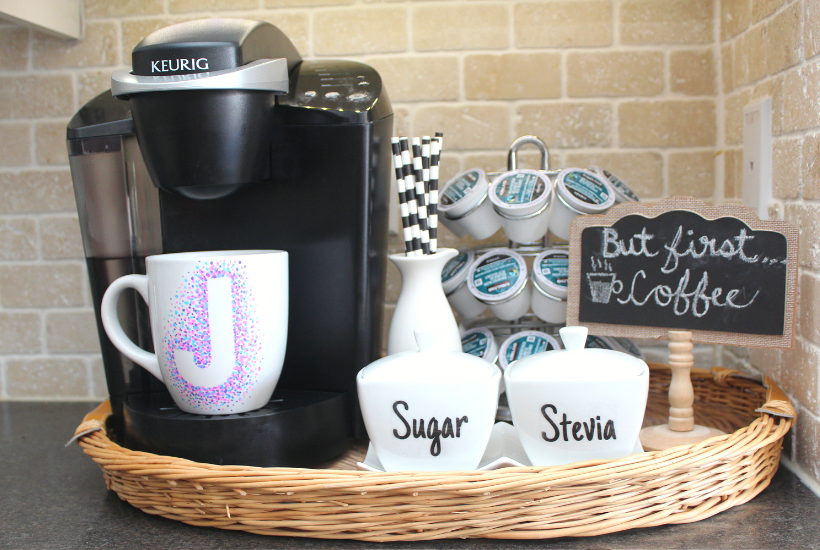keurig coffee station at home