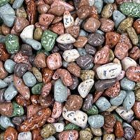 Chocolate Rocks - Mixed River Stones 1LB Bag