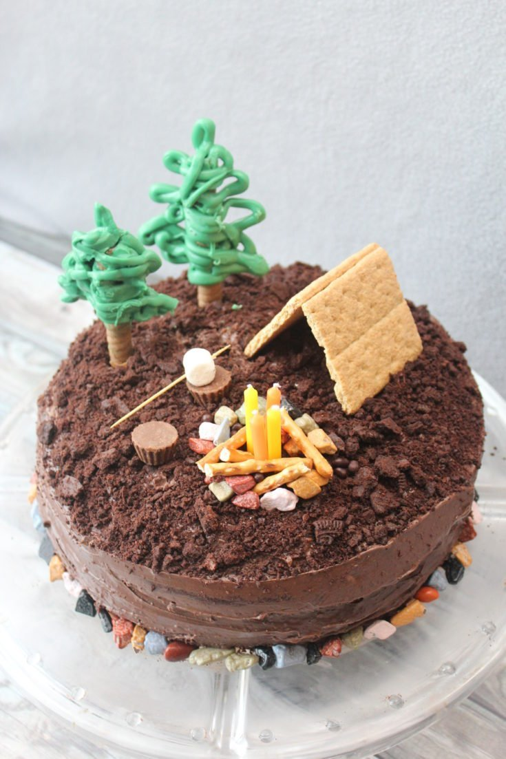 How to make a S'mores Camping Cake