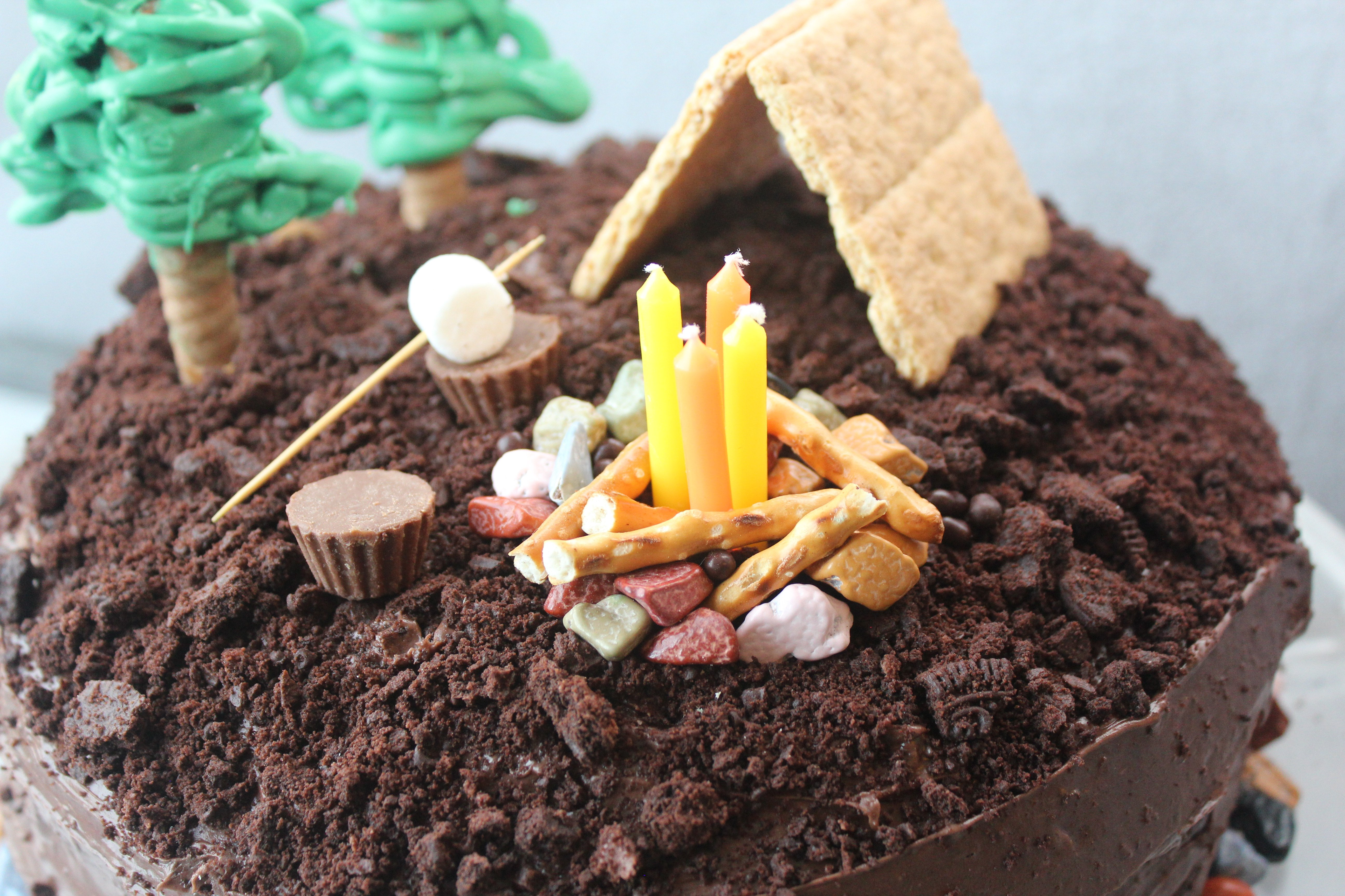 camping cake topper