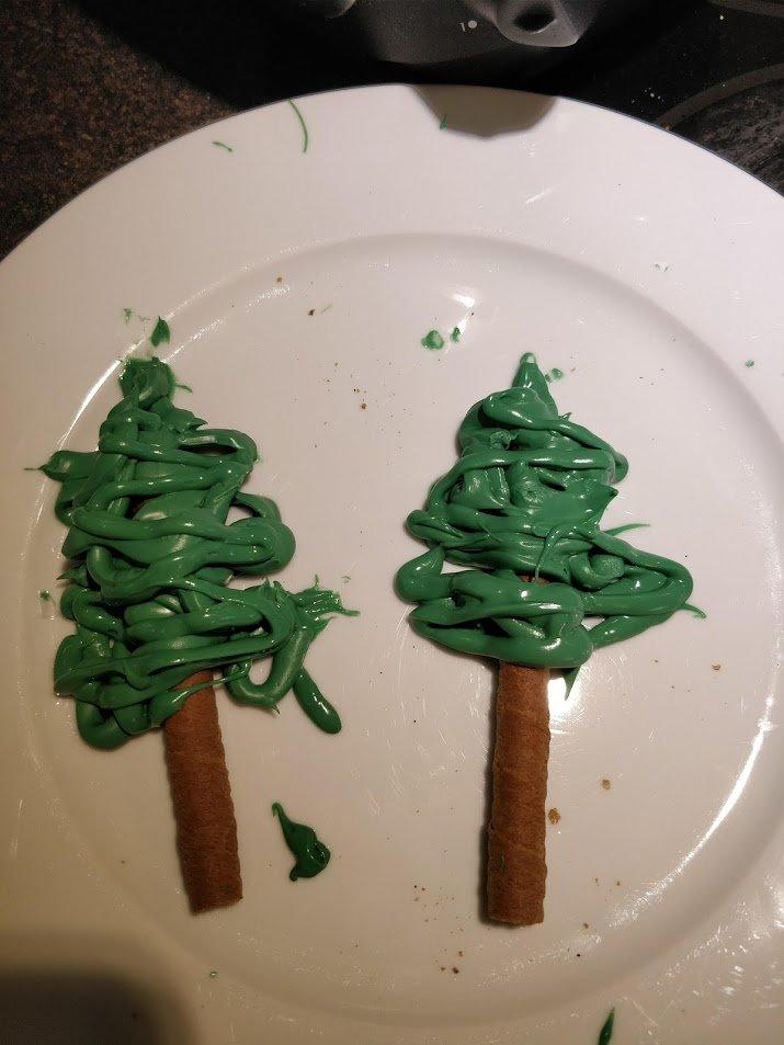 how to make chocolate tree cake topper