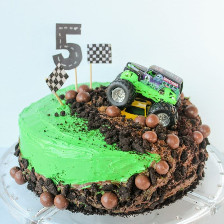 Tremendous How To Make A Monster Truck Cake The Easiest Cake Youll Ever Make Personalised Birthday Cards Sponlily Jamesorg