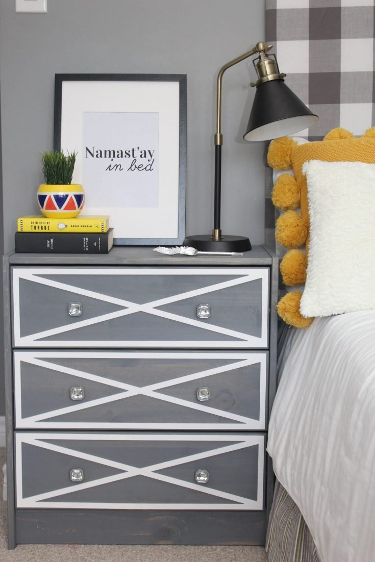 Ikea Rast Dresser Hack with Overlays