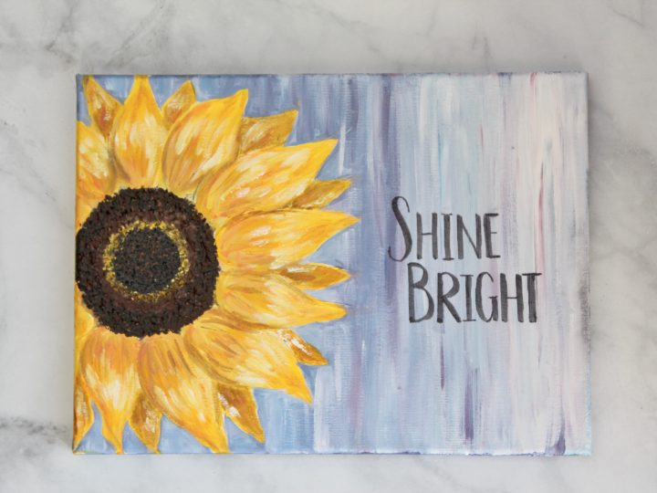 Colored Daisy Original Acrylic Painting 12 x 12 stretched canvas. Colorful Flower Painting Bright Flower Art
