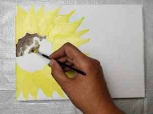 painting of sunflower