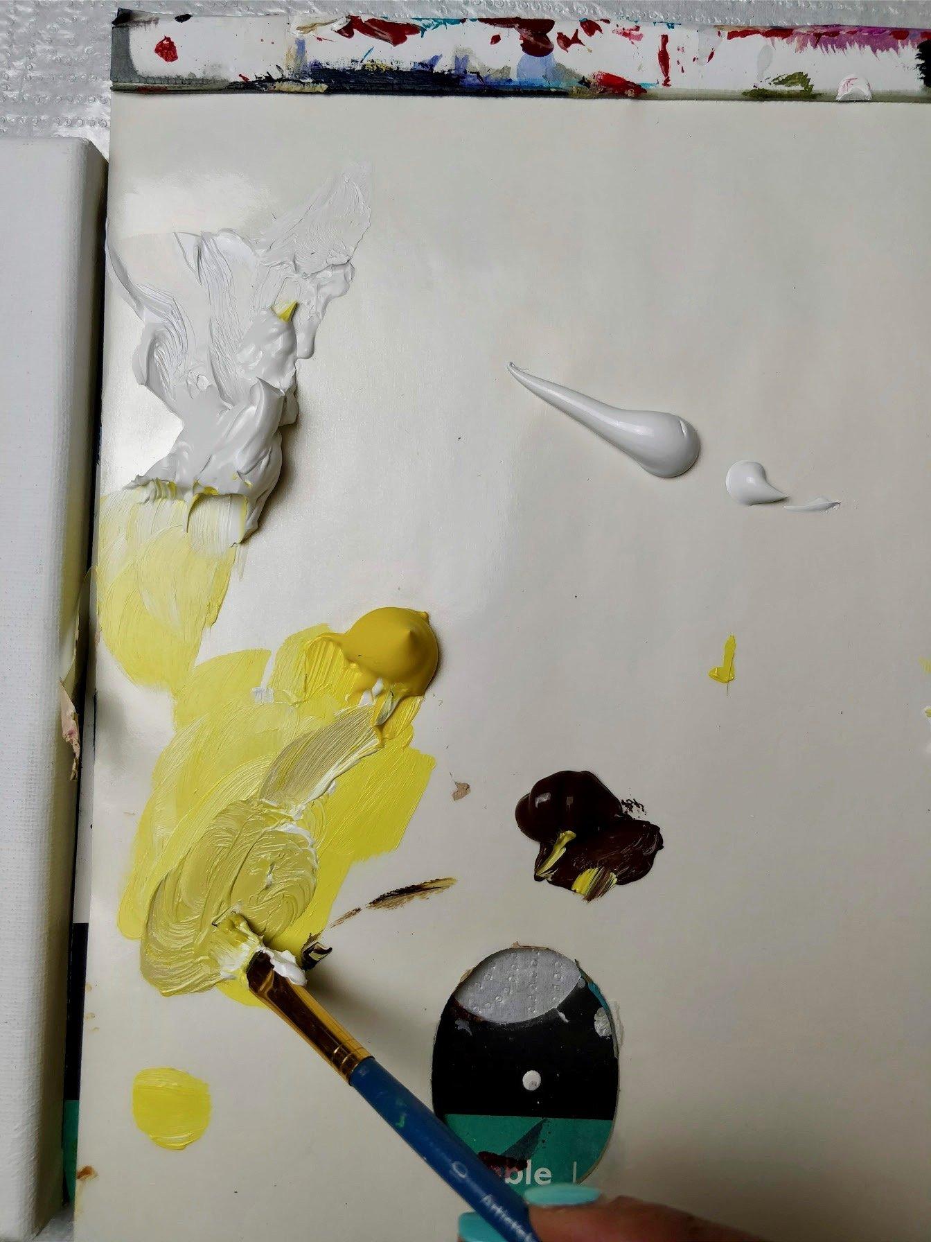 sunflower painting yellow shade