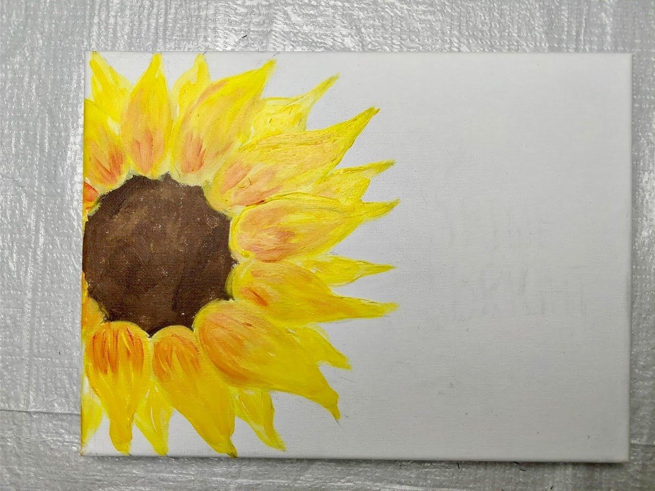 sunflower paintings acrylic