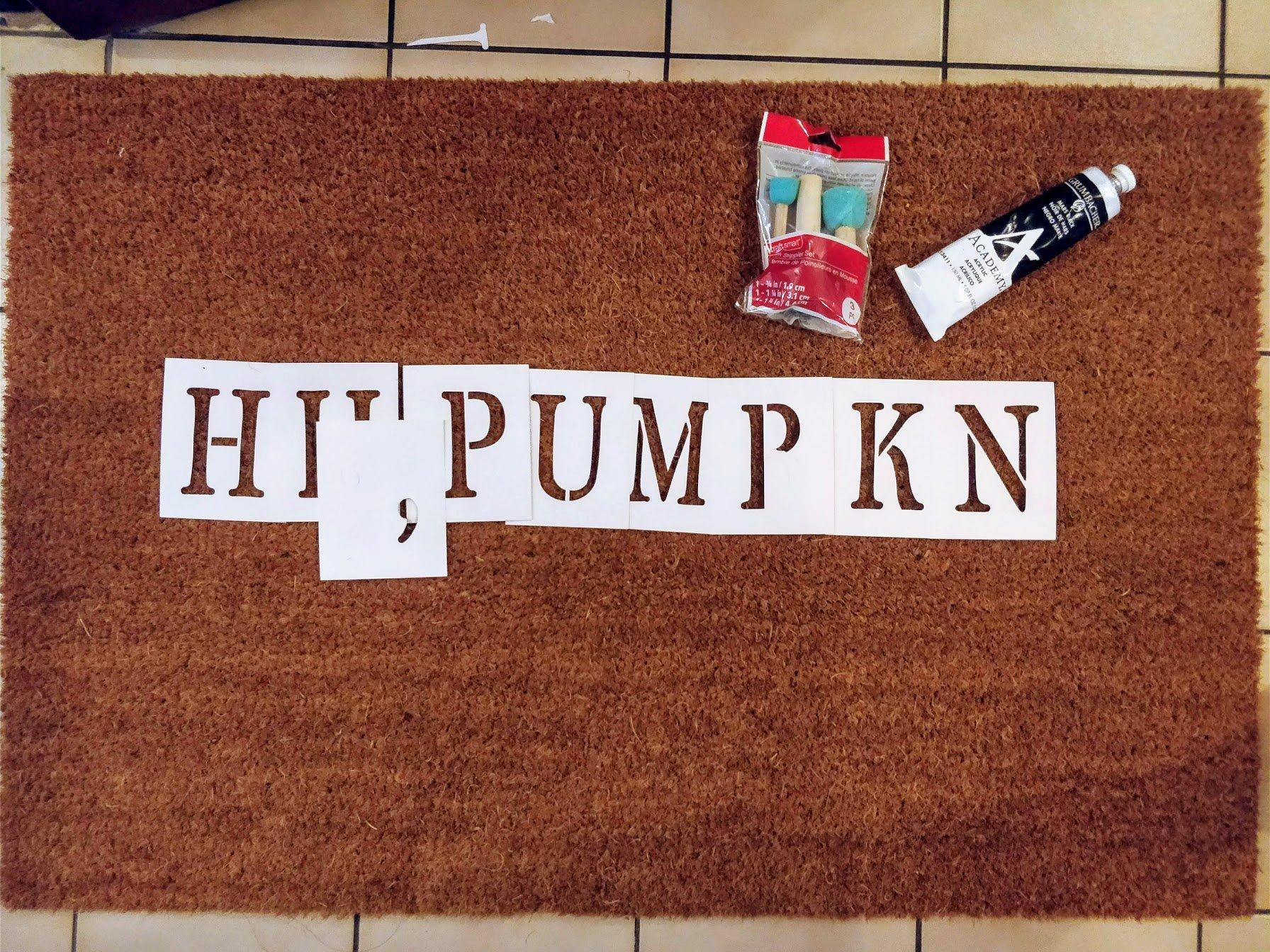 diy doormat funny fall