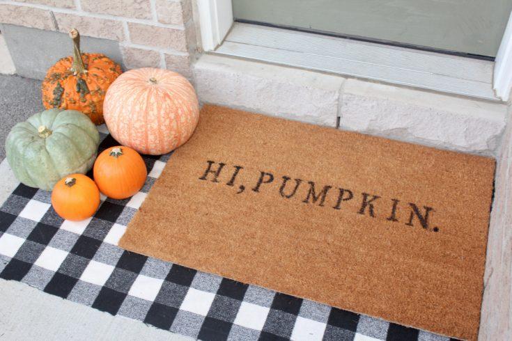 hi pumpkin doormat