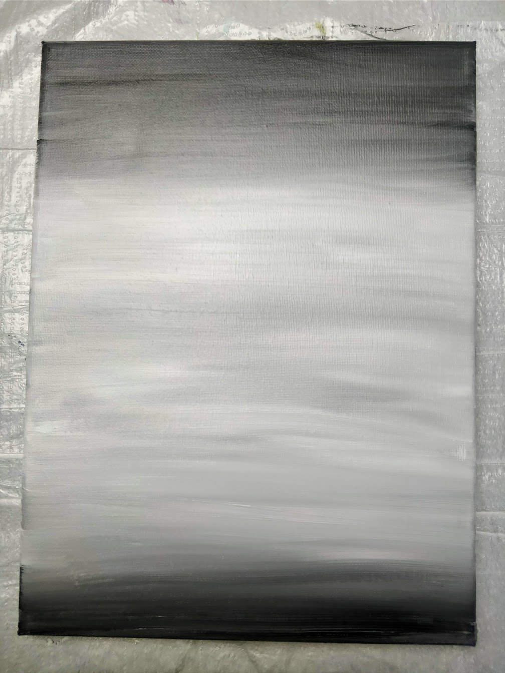 grey background landscape acrylic paint