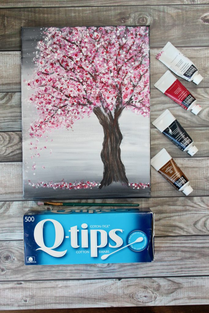 how to paint cherry blossoms in acrylic