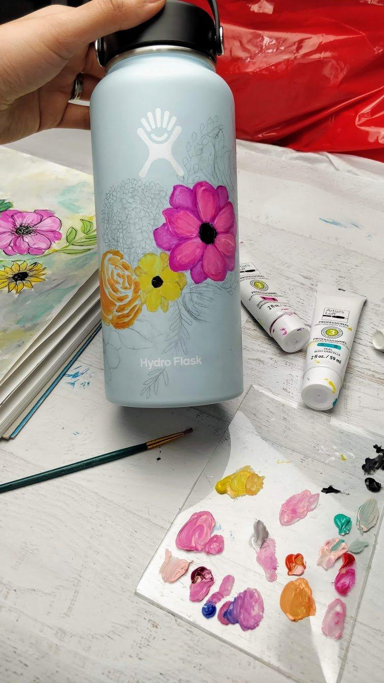 DIY Hydro flask painting idea