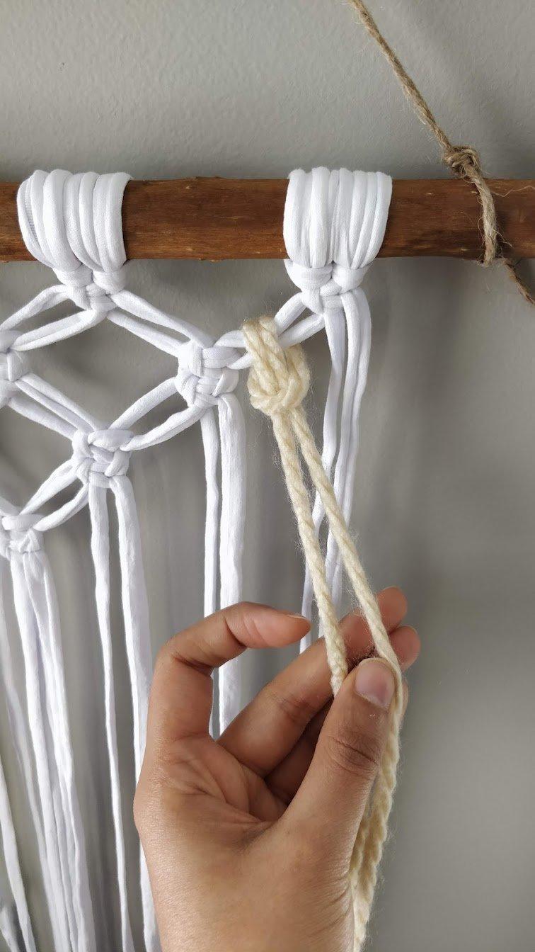 macrame wall hanging yarn