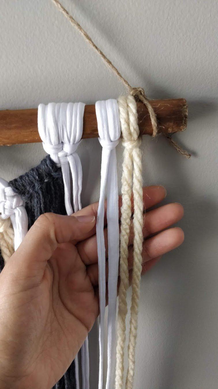 macrame wall hanging yarn step 4