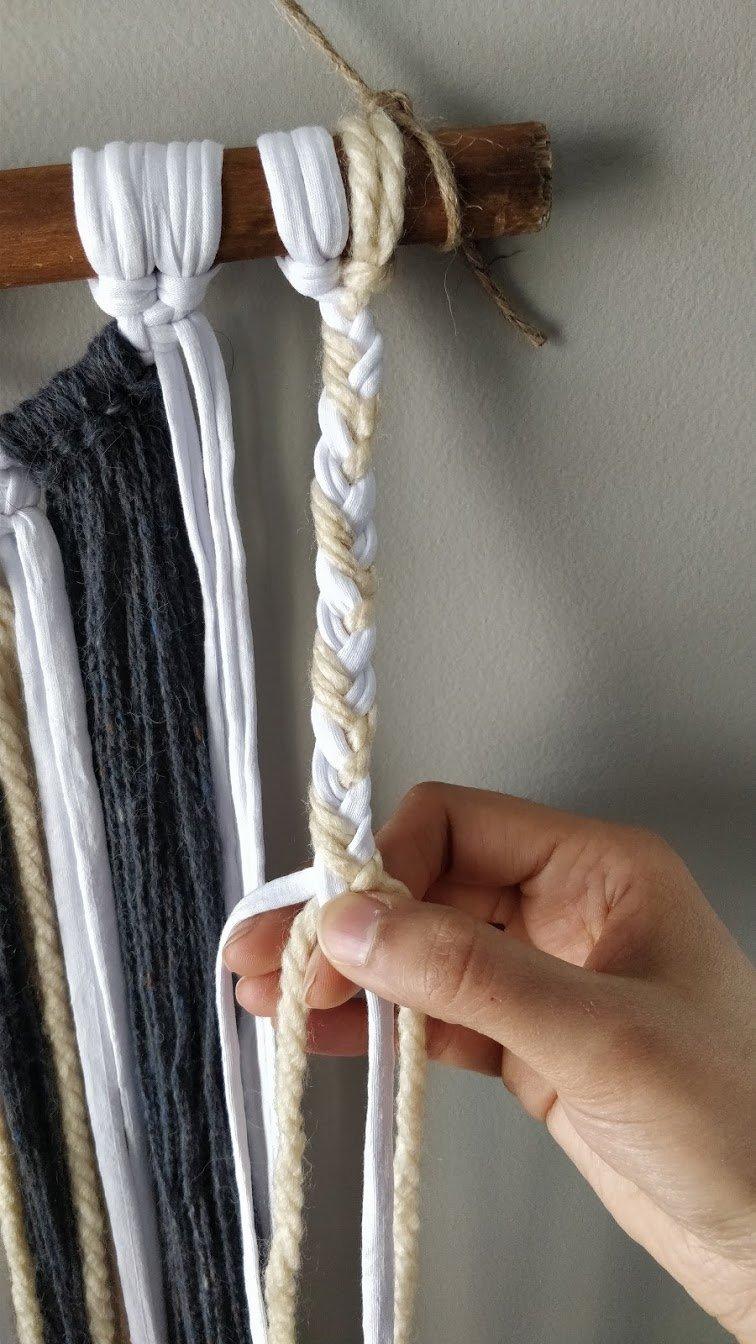 macrame wall hanging yarn step 6