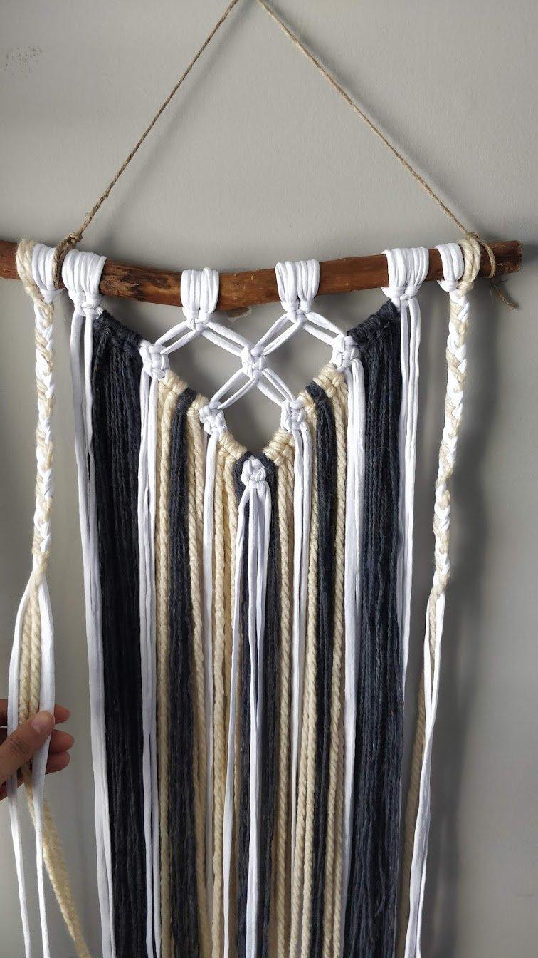 macrame wall hanging yarn step 7