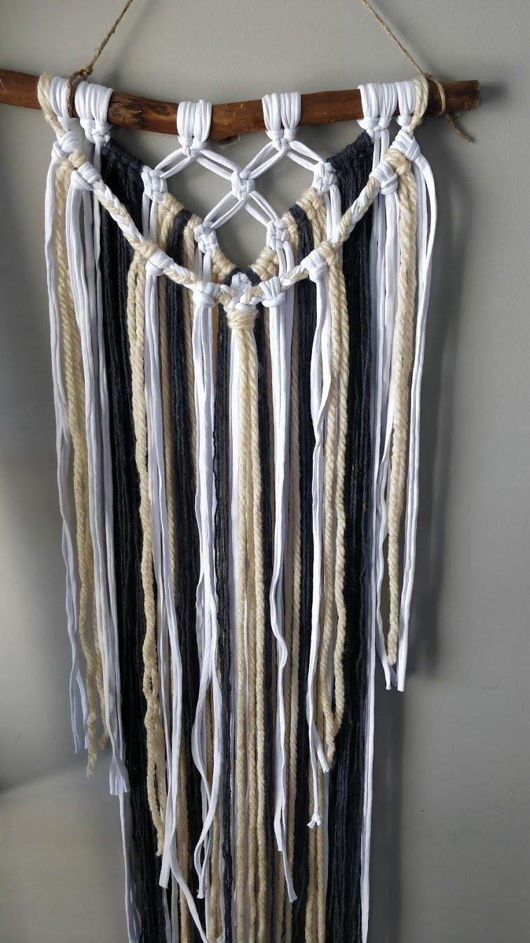 macrame wall hanging yarn step 9