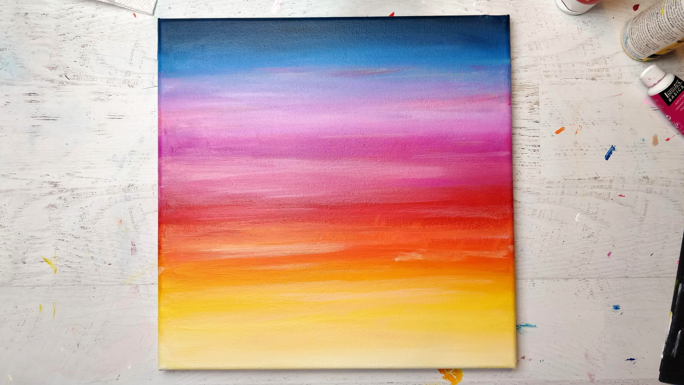 sunset acrylic paint sky